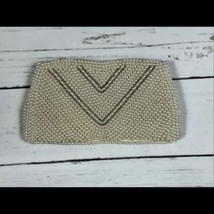 50's pearl clutch vintage wedding purse 50's retro